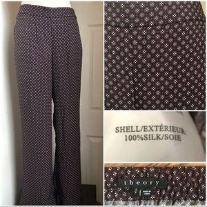 Theory Silk Palazzo pants